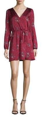 Highline Collective Faux Wrap Floral Mini Dress