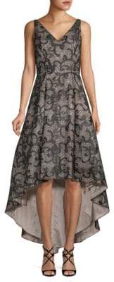 Calvin Klein Paisley and Sequin-Embellished Gown