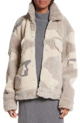 Women's Rag & Bone Jake Camo Genuine Shearling Jacket