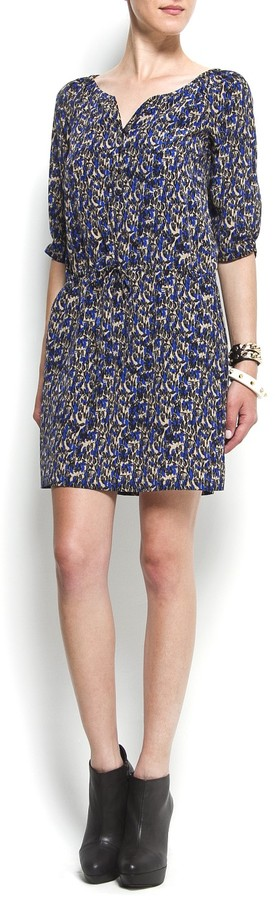 Printed straight-cut dress