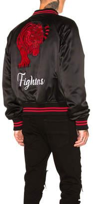 Amiri Fighters Embroidered Baseball Jacket