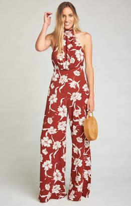 MUMU Norah Jumpsuit ~ Bloom Maple Crinkle Stretch