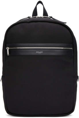 Saint Laurent Black City Laptop Backpack