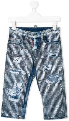 DSQUARED2 embellished distressed jeans