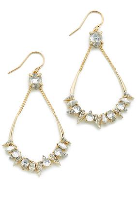 Alexis Bittar Crystal Mosaic Teardrop Earrings $265 thestylecure.com