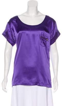 Diane von Furstenberg Silk Short Sleeve Blouse
