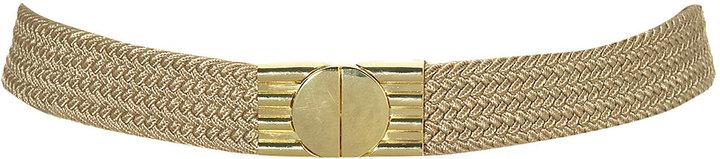 Gold Clasp Woven Elastic Belt