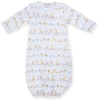 Kissy Kissy Safari Excursion Convertible Pima Sleep Gown, Blue/White, Size Newborn-Small $42 thestylecure.com