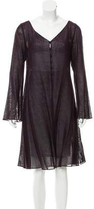 Donna Karan Knee-Length Linen Cardigan w/ Tags