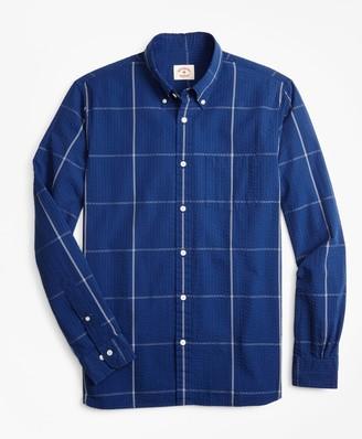 Brooks Brothers Windowpane Seersucker Sport Shirt