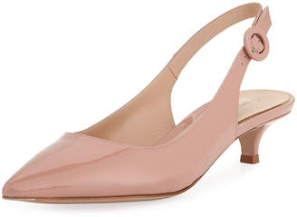 651a85a827b Gianvito Rossi Beige Pointed Toe Pumps - ShopStyle