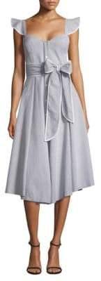 Milly Seersucker Corset Flare Dress