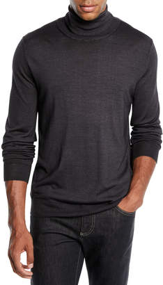 Canali Men's Wool-Silk Turtleneck Sweater