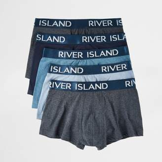 River Island Mens Big and Tall blue hipster boxers multipack