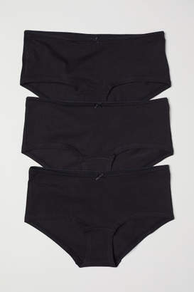 H&M 3-pack Cotton Shortie Briefs - Black