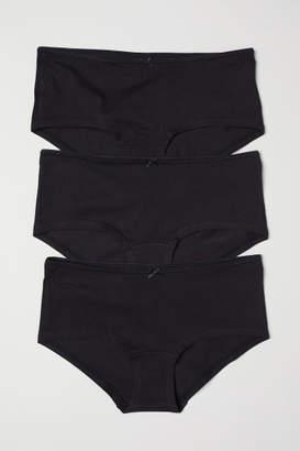H&M 3-pack Cotton Shortie Briefs - Black