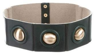 Diane von Furstenberg Leather & Canvas Waist Belt