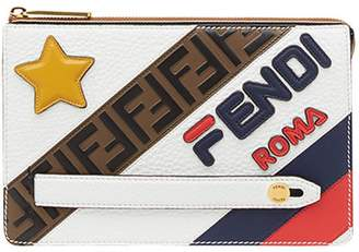 Fendi FendiMania slim zipped clutch bag