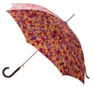 Valentino Floral Nylon Umbrella Red Floral Nylon Umbrella