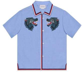 Gucci Children's cotton shirt with wolves