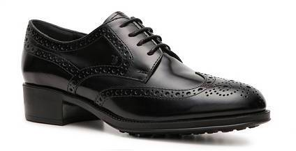 Tod's Polished Leather Wingtip Oxford
