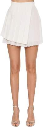 Asymmetric Crepe & Georgette Skirt