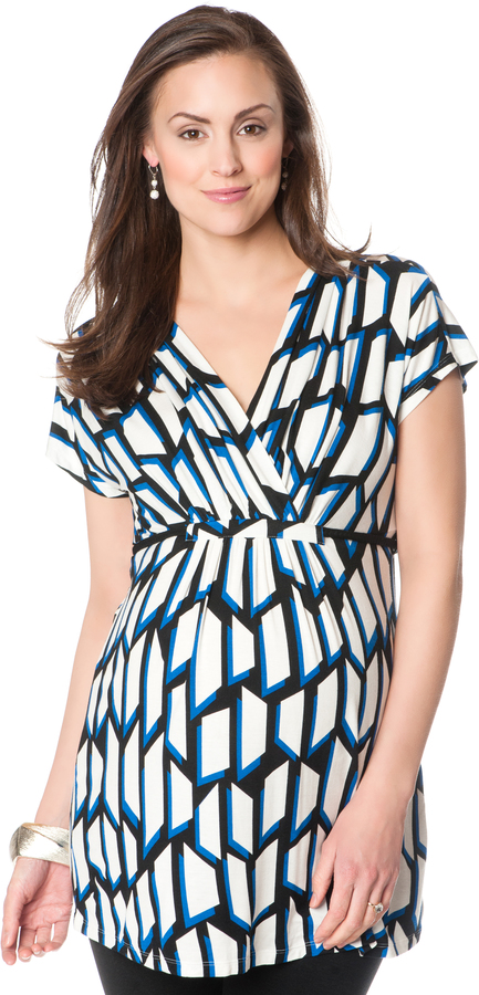 Motherhood Cross Front Maternity Tunic