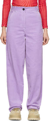 Ashley Williams Purple Work Trousers