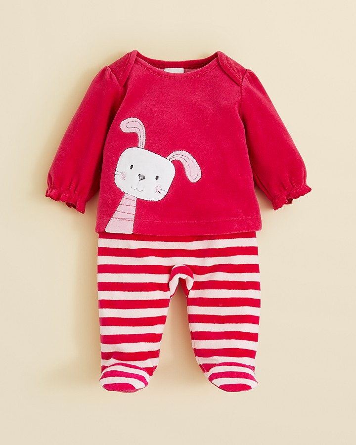 Absorba Infant Girls' Bubble Sleeve Bunny Top & Pants Set - Sizes 0-9 Months