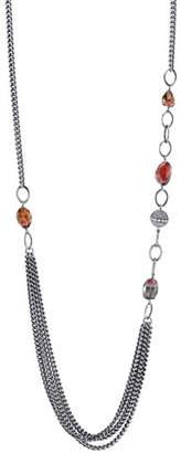 "Sheryl Lowe Tourmaline Curb-Chain Draped Necklace, 40"""