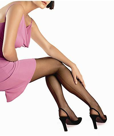 HUE Back Seam Sheer  Control Top Pantyhose Panty Hose