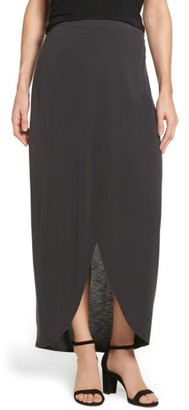 Women's Nic+Zoe Boardwalk Knit Wrap Maxi Skirt $118 thestylecure.com