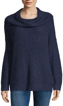 4818f01b4 Navy Cowl Neck Sweater - ShopStyle