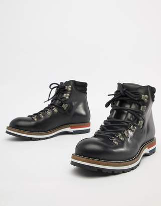 Office Intrepid hiker boots in black leather
