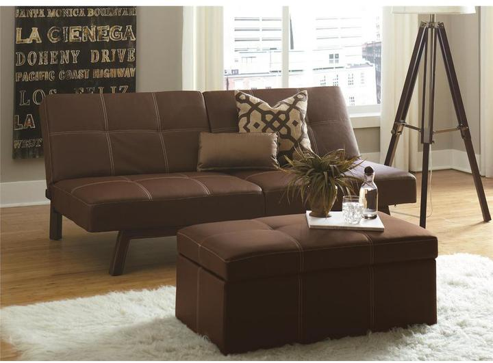 DHP Delaney Large Rectangular Ottoman in Brown
