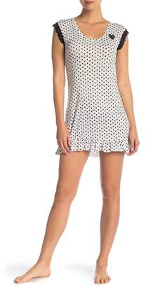 Betsey Johnson Ruffle Trim Nightgown