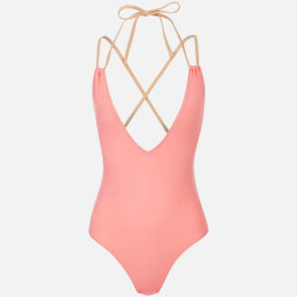 Solid & Striped Women's The Alexandra Swimsuit Coral/Nude