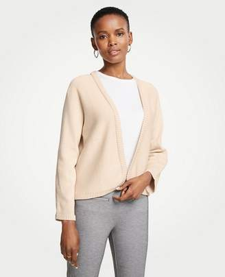 Ann Taylor Petite Cropped Open Cardigan