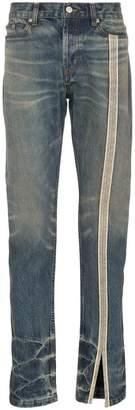 Nounion side stripe slit hem straight leg jeans