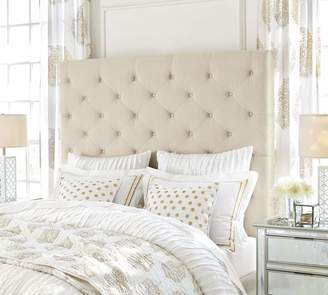Pottery Barn Lorraine Tufted Tall Upholstered Headboard