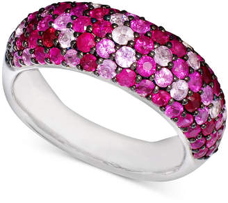 Effy Balissima by Multicolor Ruby Band Ring (3-9/10 ct. t.w.) in Sterling Silver
