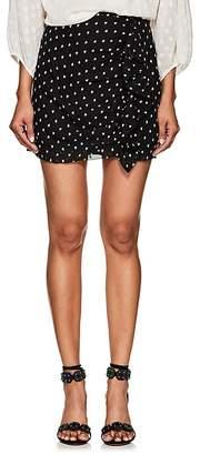 FiveSeventyFive Women's Star-Print Crepe Miniskirt
