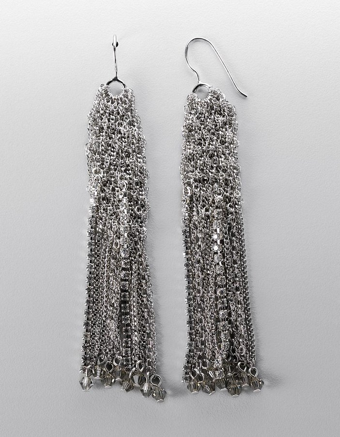 A.b.s. By allen schwartz Silver-Plated Multi-Chain Linear Drop Earrings
