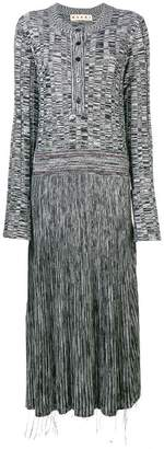 Marni long flared sweater dress