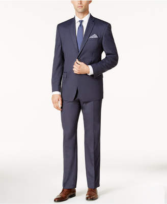 Andrew Marc Men's Classic-Fit Blue Pindot Suit