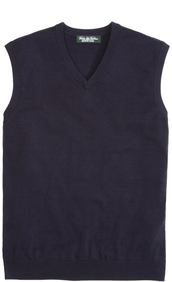Brooks Brothers Country Club Silk and Cotton Vest