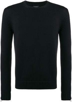 Les Hommes zip-up cuff sweater