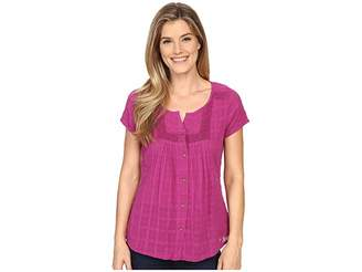 Prana Lucie Top Women's Short Sleeve Button Up