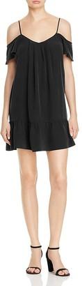 Joie Stellara Cold-Shoulder Silk Dress $298 thestylecure.com