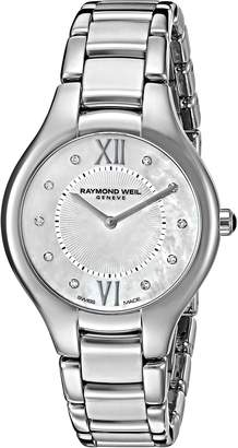 Raymond Weil Women's 'Noemia' Quartz Stainless Steel Dress Watch, Color:Silver-Toned (Model: 5132-ST-00985)